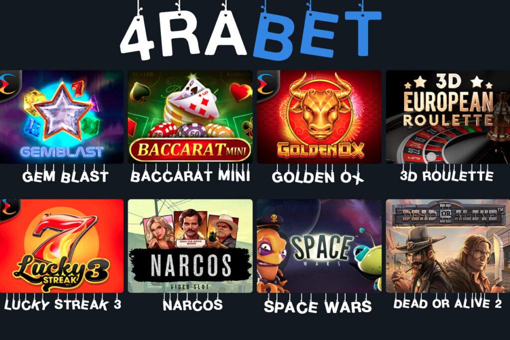 4rabet casino game